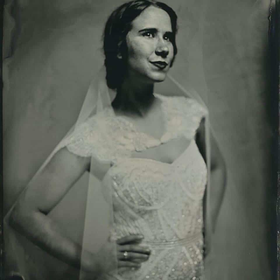 wedding tintype portrait