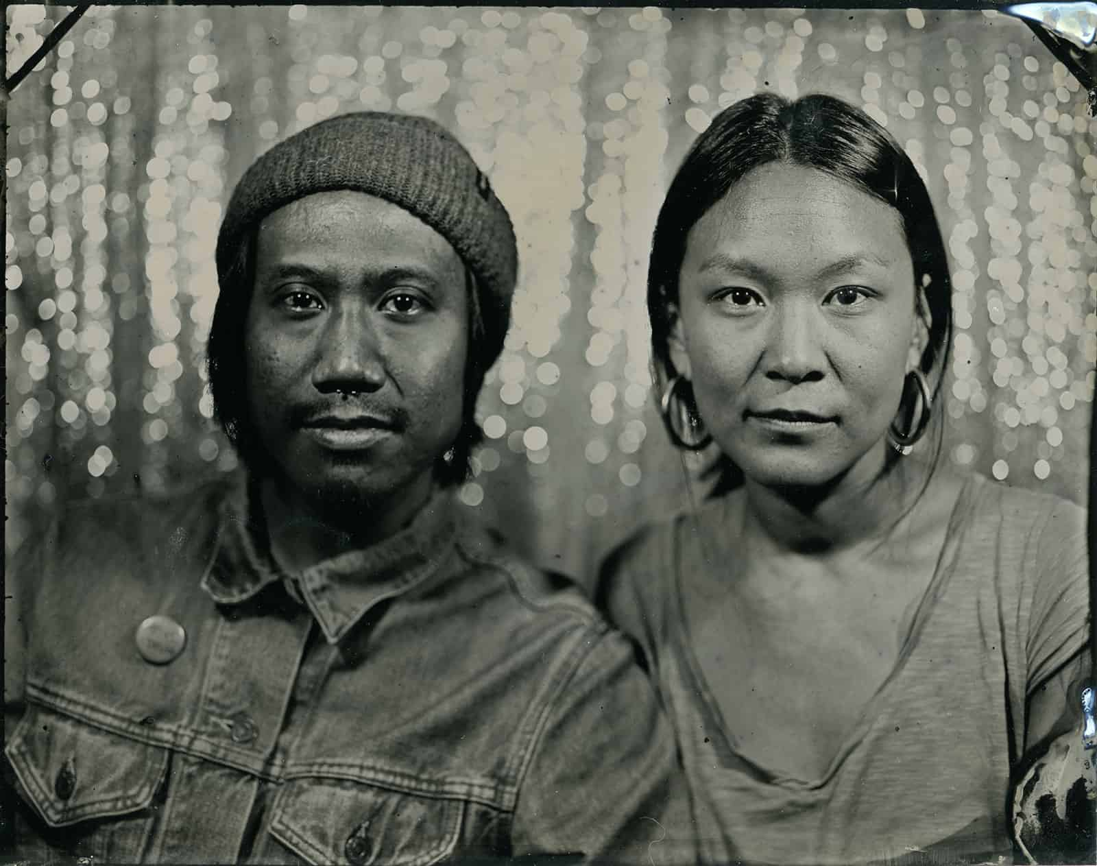 couple tintype portrait