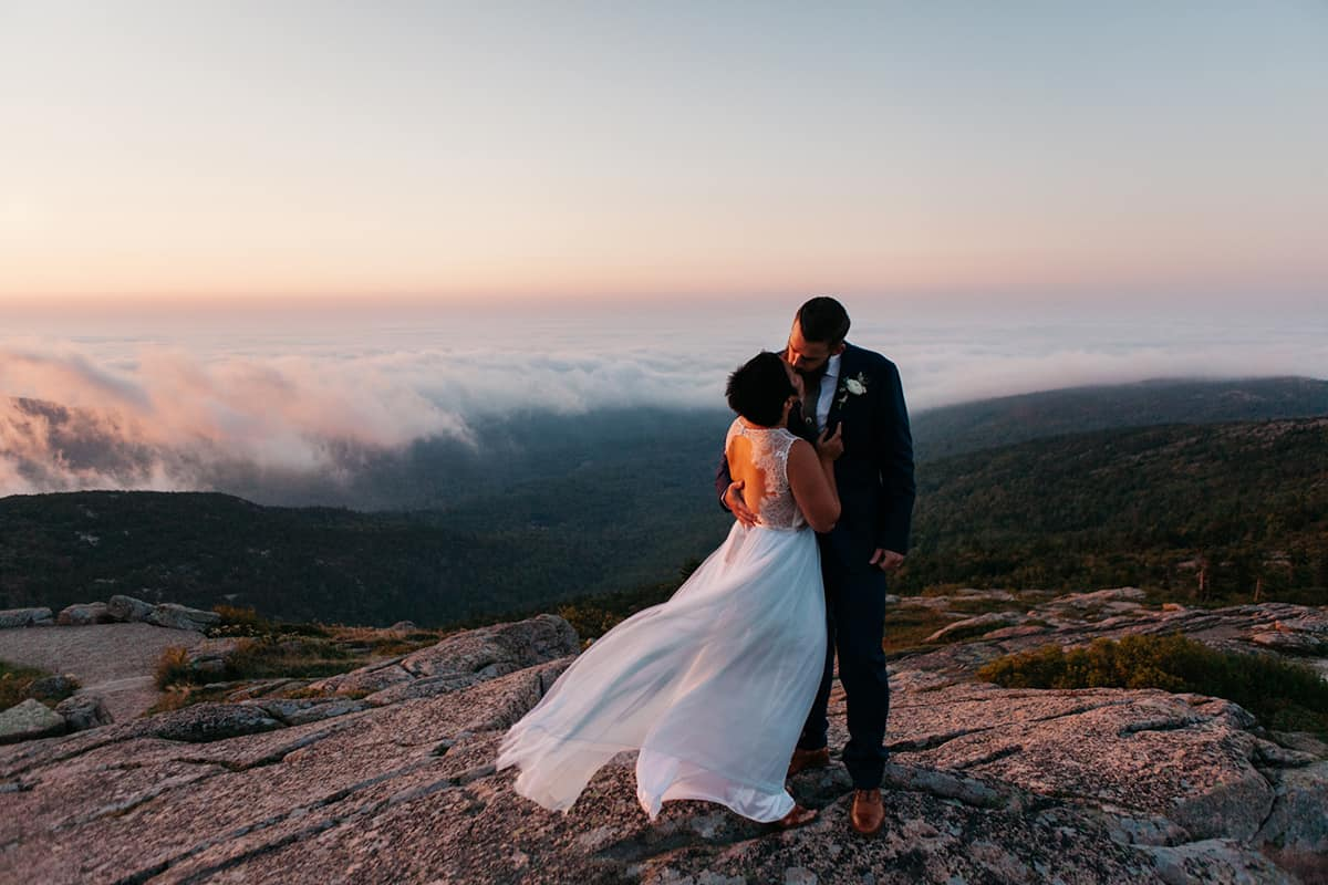 Acadia National Park destination wedding in Maine by Kate Lamb of Wild in Love Photo