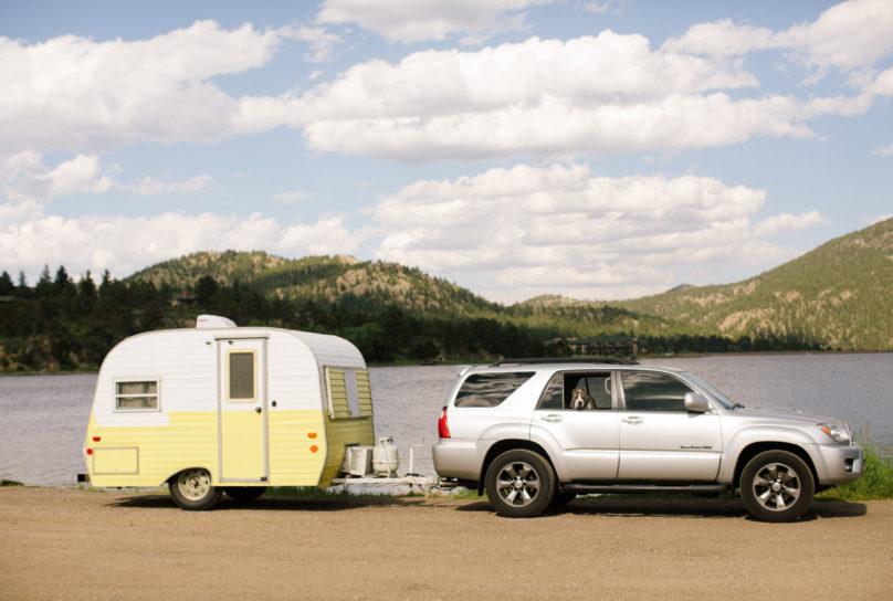 vintage Scotty camper trailer van life