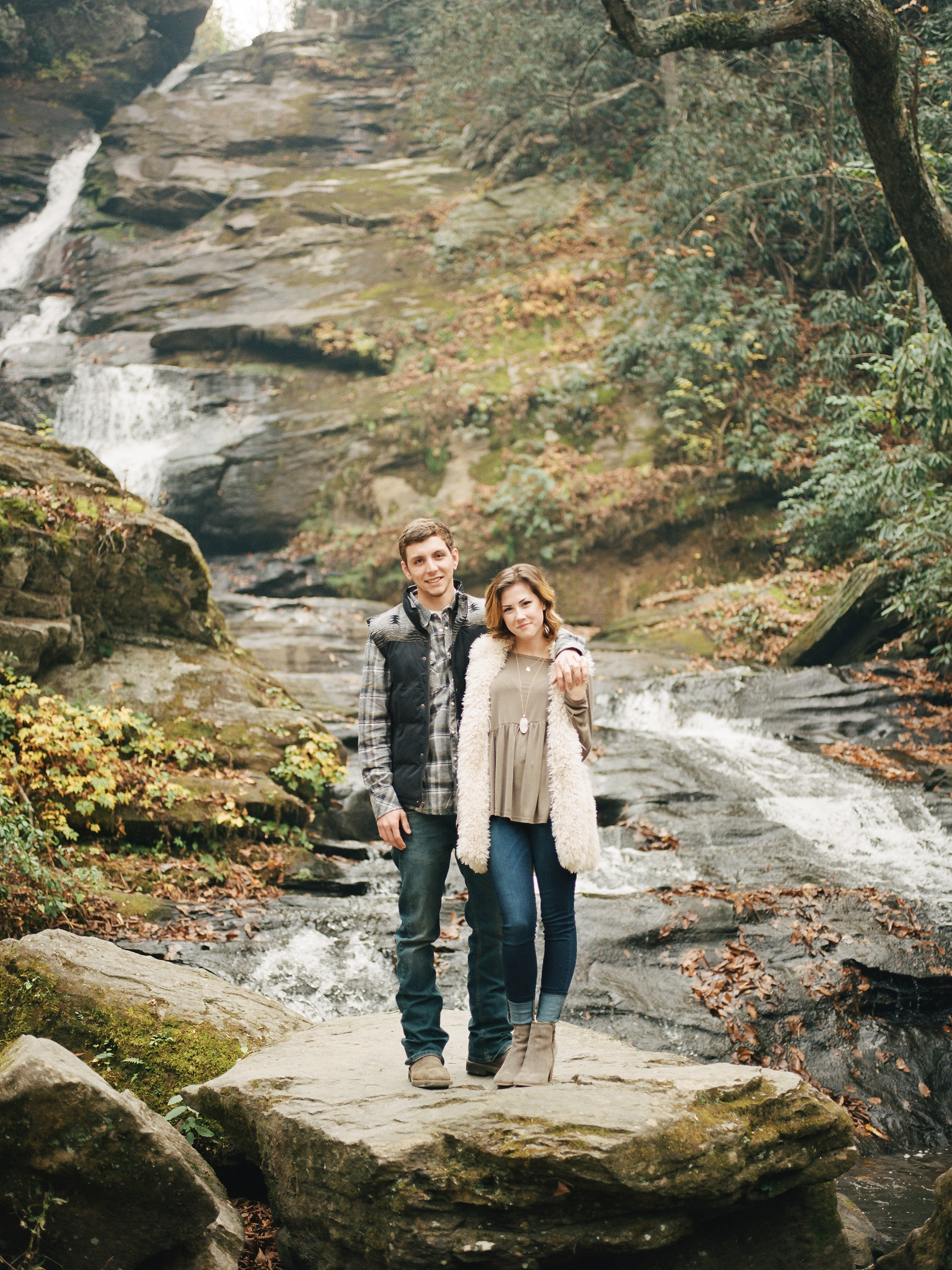 fall mountain engagement session