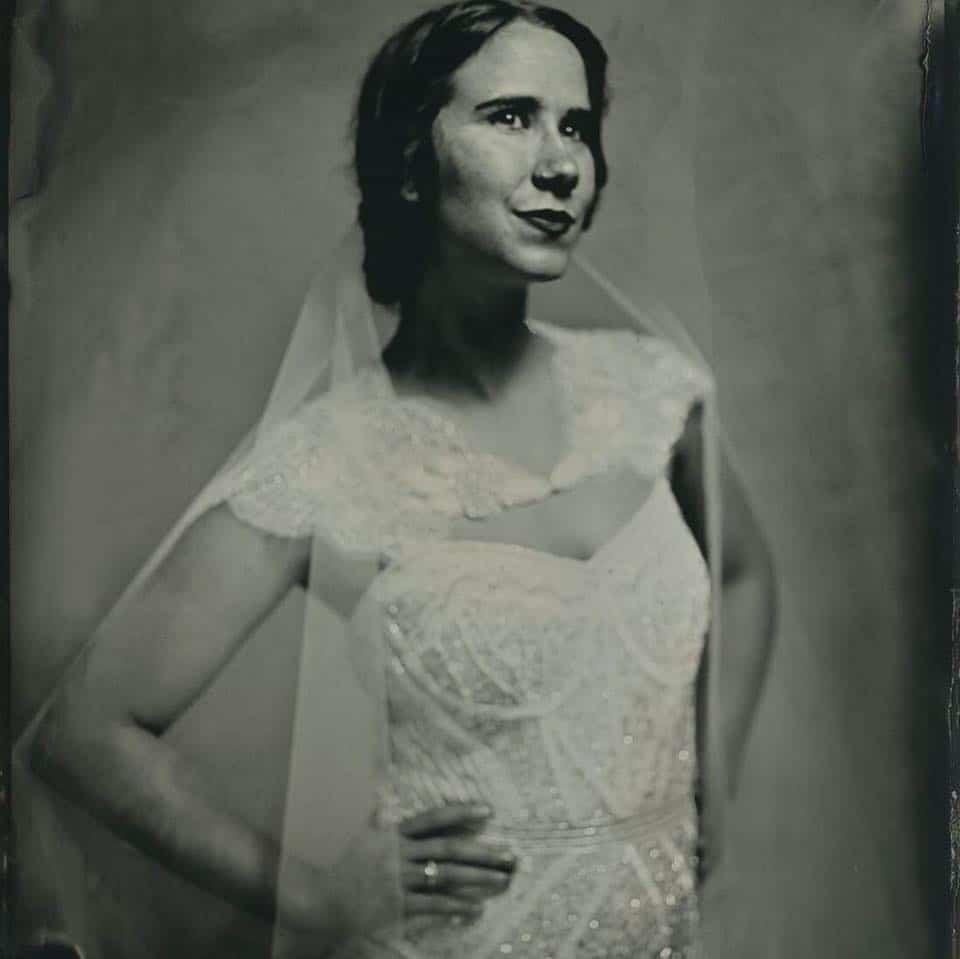 wedding tintype portrait