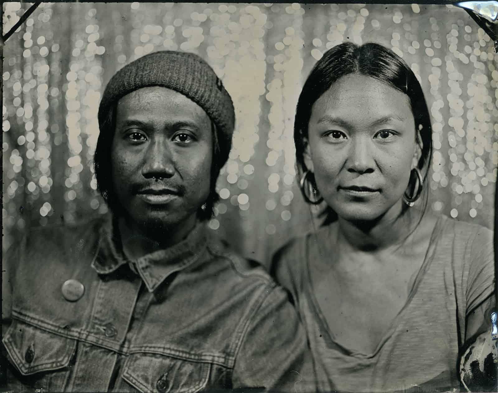 couple tintype portrait