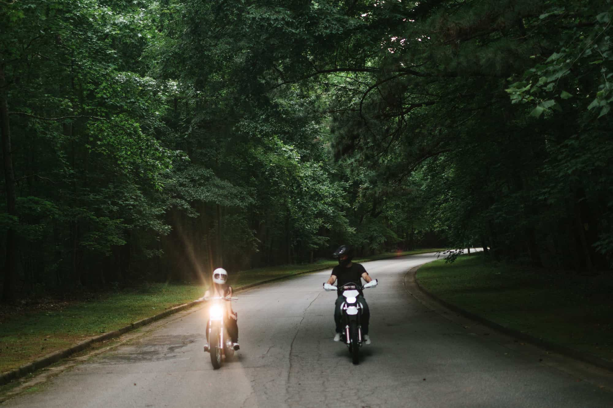 Atlanta motorcycle engagement session by Kate Lamb of Wild in Love Photo