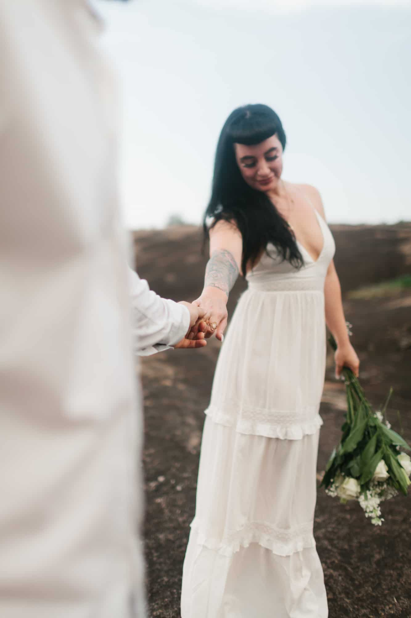 Arabia Mountain engagement session by Kate Lamb of Wild in Love Photo
