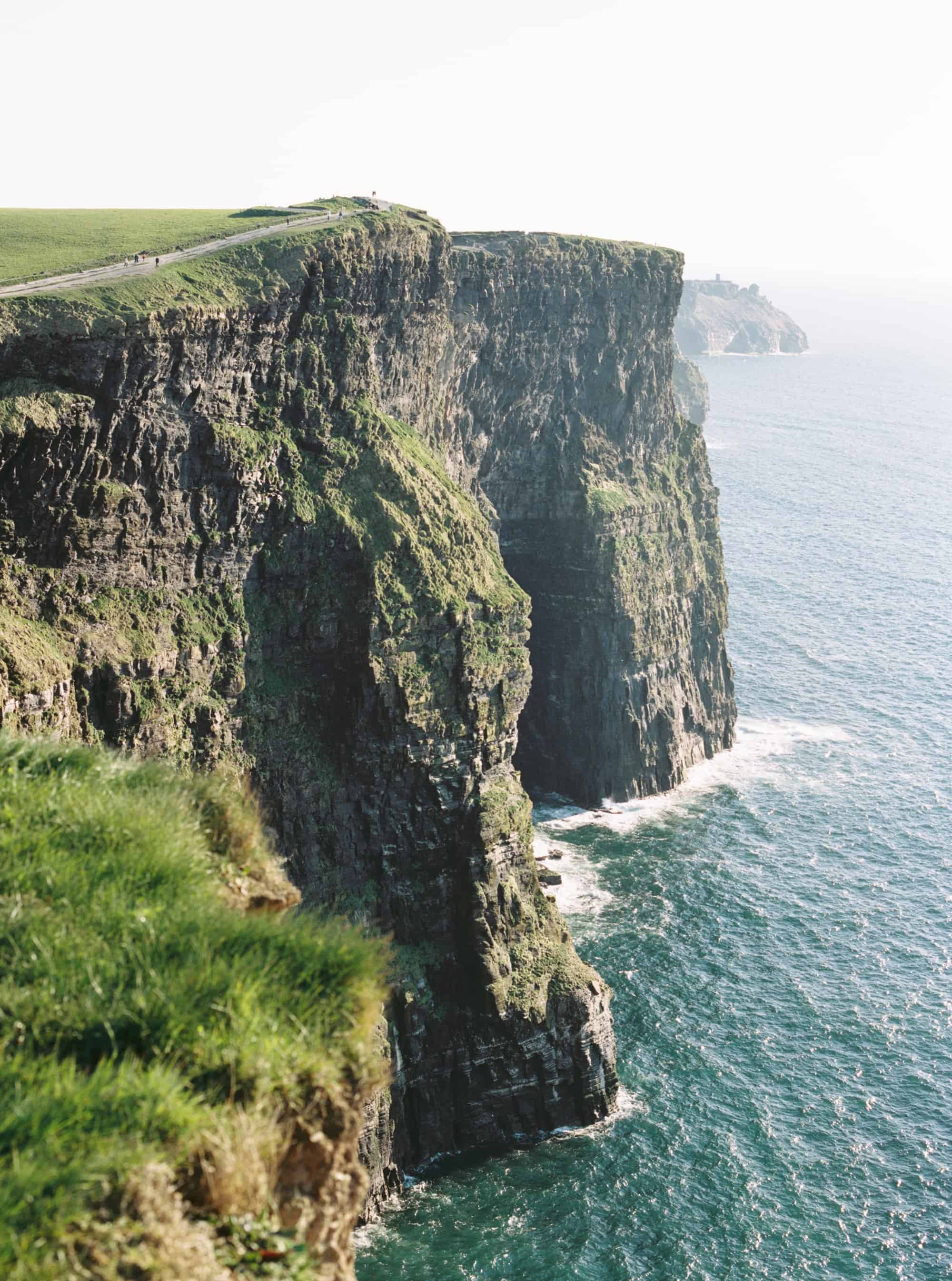 Cliffs of Moher in Liscannor, Co Clare, Ireland photographed on film by Kate Lamb of Wild in Love Photo
