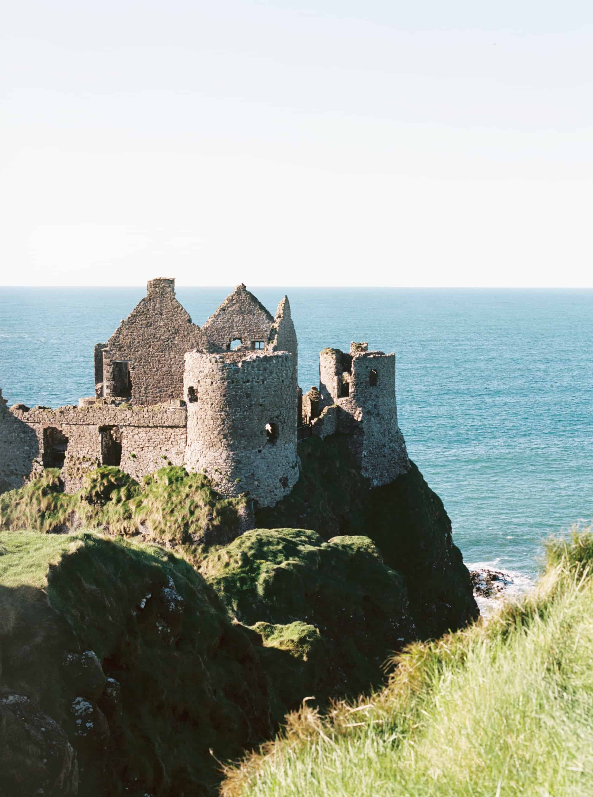 Dunluce Castle in County Antrim, Northern Ireland photographed on film by Kate Lamb of Wild in Love Photo.
