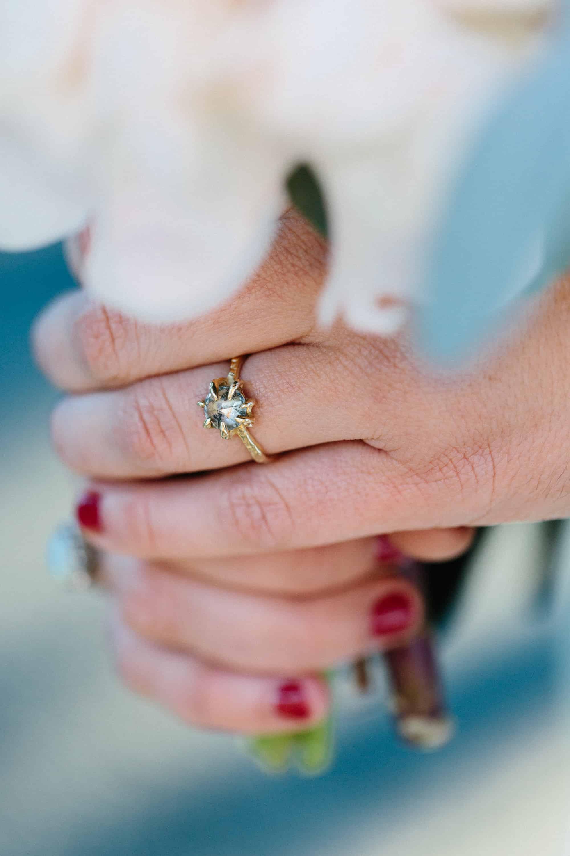 salt pepper diamond wedding ring