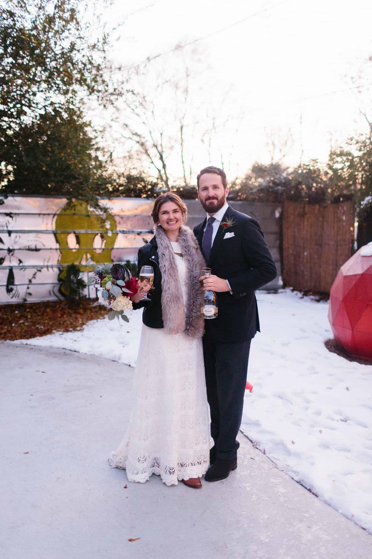 atlanta nontraditional winter wedding